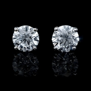 Diamond 6.18 Carats 18k White Gold Stud Earrings