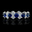 1.91cts Diamond and Blue Sapphire 18k White Gold Ring