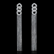 1.10cts Diamond 18k White Gold Dangle Earrings