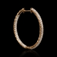 2.74ct Diamond 18k Rose Gold Hoop Earrings