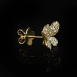 .91ct Diamond 18k Yellow Gold Butterfly Cluster Earrings