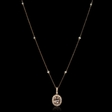 .35ct Diamond and Morganite 18k Rose Gold Pendant