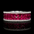 .31ct Diamond and Ruby 18k White Gold Ring