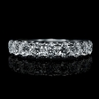 1.13cts Diamond 18k White Gold Wedding Band Ring