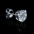 3.06ct Diamond 18k White Gold Stud Earrings
