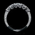 1.16cts Diamond 18k White Gold Wedding Band Ring