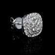 .82ct Diamond 18k White Gold Cluster Earrings