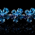 61.87ct Tanzanite, Blue Topaz and Sapphire 18k White Gold Bracelet