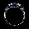 .27ct Diamond and Blue Sapphire 18k White Gold Ring