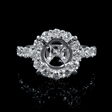 1.13cts Diamond 18k White Gold Engagement Ring Setting