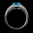 .78ct Diamond and Blue Topaz 18k White Gold Ring
