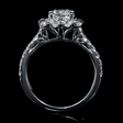 .76ct Diamond 18k White Gold Halo Engagement Ring Setting