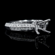 .31ct Diamond 18k White Gold Engagement Ring Setting