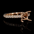 .29ct Diamond 18k Rose Gold Engagement Ring Setting