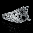 3.19cts Diamond 18k White Gold Engagement Ring Setting