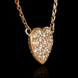 .25ct Diamond 14k Rose Gold Pendant Necklace