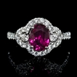.81ct Diamond and Ruby 18k White Gold Ring