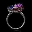 .08ct Diamond Amethyst and Iolite 18k White Gold Ring