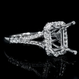 .43ct Diamond 18k White Gold Engagement Ring Setting
