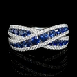 .46ct Diamond and Blue Sapphire 18k White Gold Ring