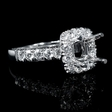 1.28cts Diamond 18k White Gold Halo Engagement Ring Setting