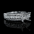 .87ct Diamond 18k White Gold Engagement Ring Setting