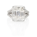 Simon G Diamond 18k White Gold Ring