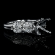 1.38cts Diamond 18k White Gold Engagement Ring Setting