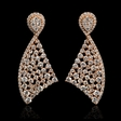 4.13cts Diamond 18k Rose Gold Dangle Earrings