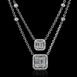 2.01cts Diamond 18k White Gold Dangle Necklace