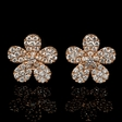 .50ct Diamond 18k Rose Gold Cluster Earrings