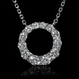 .77ct Diamond 18k White Gold Pendant Necklace