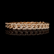 3.02cts Diamond 18k Rose Gold Bracelet