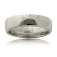 Men`s 14k White Gold Comfort Fit Wedding Band Ring
