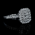 1.11ct Diamond 14k White Gold Ring