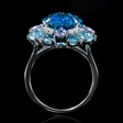 .21ct Diamond and Tanzanite 18k White Gold Ring