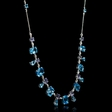 .41ct Diamond Blue Topaz and Tanzanite 18k White Gold Necklace