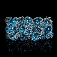 .32ct Diamond and Blue Sapphire 18k White Gold Bracelet