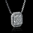 .64ct Diamond 18k White Gold Pendant Necklace
