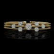 1.54ct Diamond 18k Yellow and White Gold Bracelet