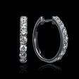 .66ct Diamond 18k White Gold Huggie Earrings