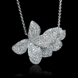 3.72cts Diamond 18k White Gold Pendant Necklace