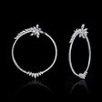 4.04cts Diamond 18k White Gold Hoop Earrings