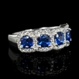 .52ct Diamond and Blue Sapphire 18k White Gold Ring