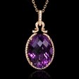.31ct Diamond and Purple Amethyst 18k Rose Gold Pendant