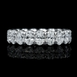 3.85cts Diamond Platinum Eternity Wedding Band Ring