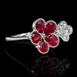 .35ct Diamond and Ruby 18k White Gold Ring