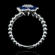 .12ct Diamond and Blue Sapphire 18k White Gold Ring