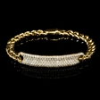 2.03cts Diamond 18k Yellow Gold Bracelet