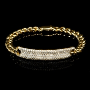 Diamond 18k Yellow Gold Bracelet